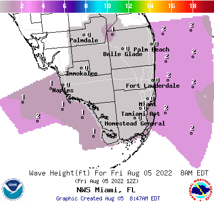 Noaa Graphical Forecast For Miami Fl