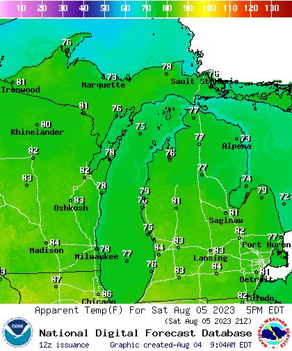 Day 2 Forecast Maximum Heat Index
