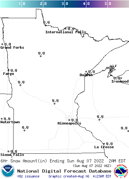 Minnesota 24-30 Hour Snowfall Forecast
