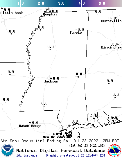 Mississippi snow forecast for the next 7 days; CLICK for Mississippi