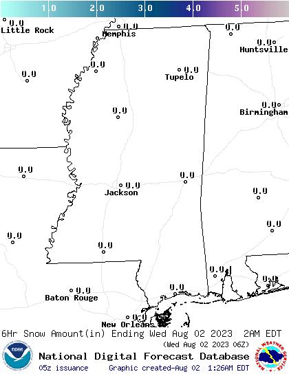 Weather Street: Mississippi Snowfall Forecast