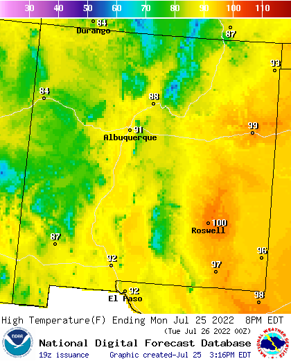 Noaa Graphical Forecast For New Mexico