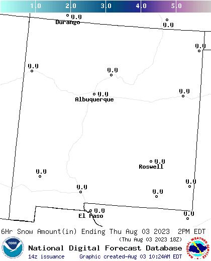 New Mexico snow forecast for the next 7 days; CLICK for New Mexico
