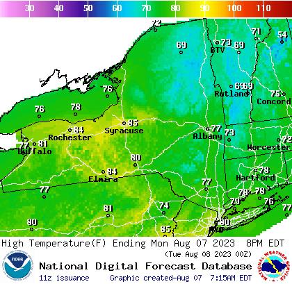 NY Max Temp Forecast