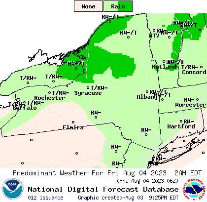 New York Weather type forecast