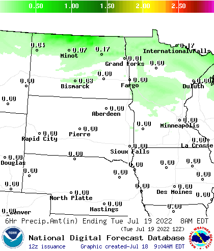 Northern Plains QPF