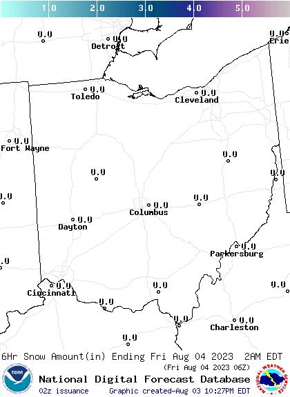 Weather Street: Ohio Snowfall Forecast