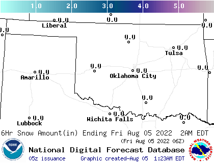 Weather Street: Oklahoma Snowfall Forecast