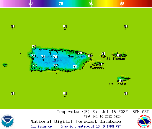 Temperatura, NOAA