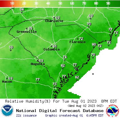 South Carolina Weather Forecast