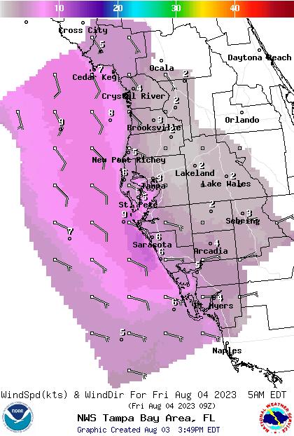 Oldsmar Fl Marine Weather And Tide Forecast