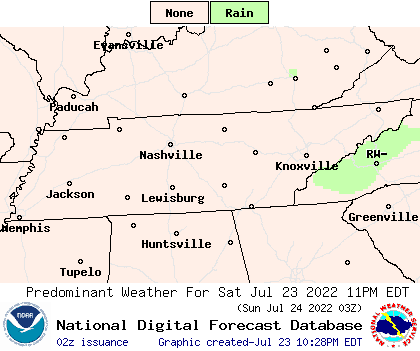 National Digital Forecast Database (NDFD) Convective Outlook