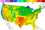United States Max Temperature