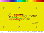 Puerto Rico High Temperature Forecast Image