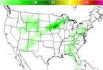 National Precipitation Amount Forecast Image