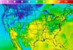 US high temps forecast