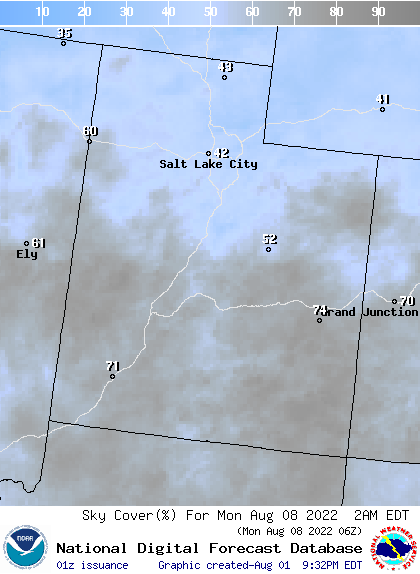 Weather Street 7 Day Utah Cloud Cover Forecast
