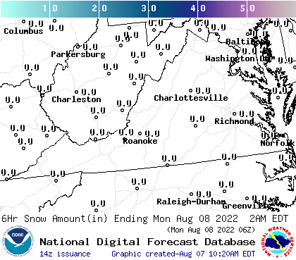 Virginia Snowfall Forecast