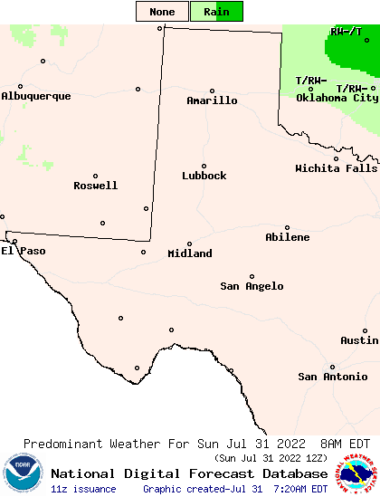 Texas Weather Map Forecast.Weather Street 7 Day West Texas Weather Type Forecast