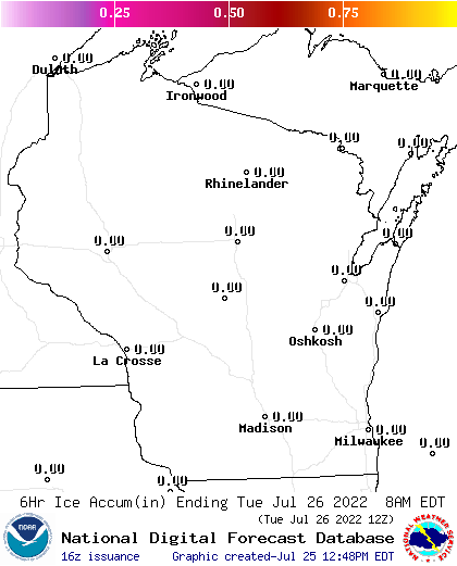 24 Hour Ice Accumulation Forecasts