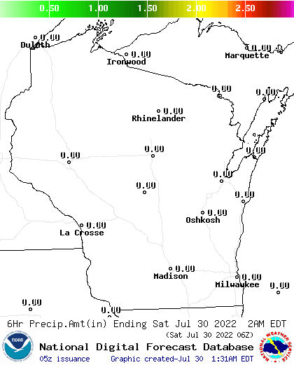 6 Hour Precipitation Amount Forecast