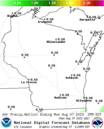 6 Hour Precipitation Amount Forecast