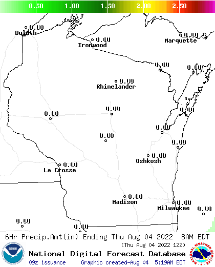 12 Hour Precipitation Amount Forecast