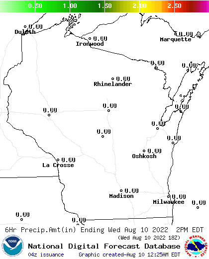18 Hour Precipitation Amount Forecast