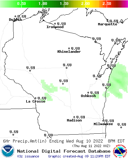 24 Hour Precipitation Amount Forecast