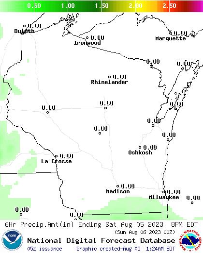 24 Hour Precipitation Amount Forecast