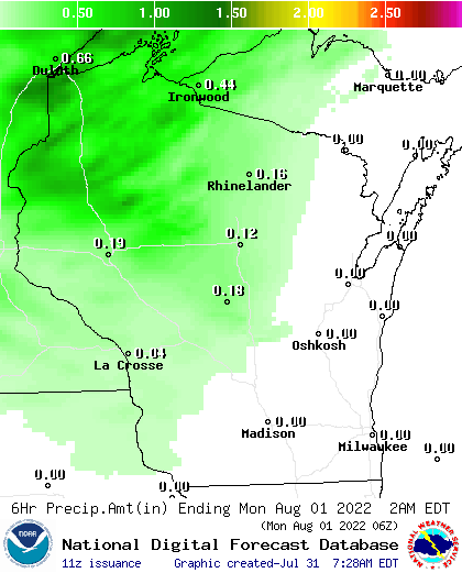 30 Hour Precipitation Amount Forecast
