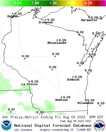 36 Hour Precipitation Amount Forecast