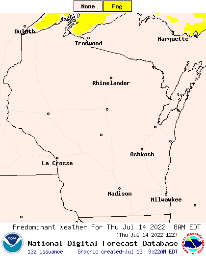 30 Hour Weather Type Forecast