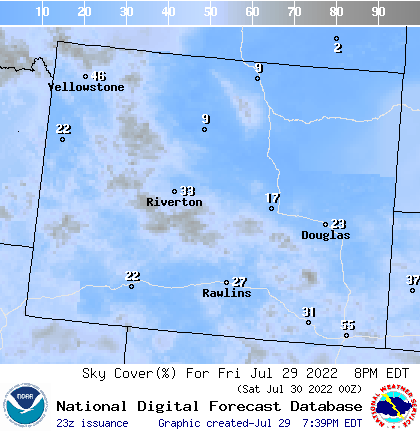 Weather Map Of Wyoming.Weather Street 7 Day Wyoming Cloud Cover Forecast