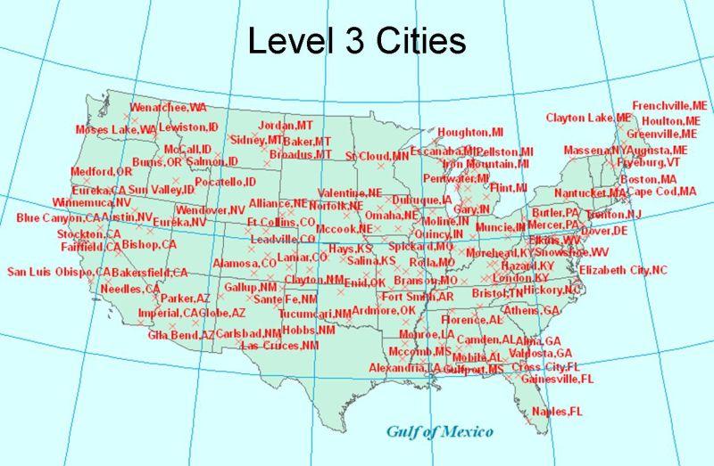 National Digital Forecast Database XMLSOAP Service NOAAs - Map of us cities with latitude and longitude